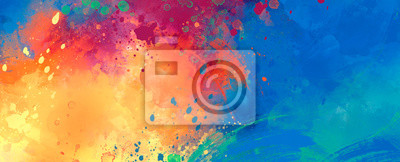 Fototapete bright Abstract watercolor drawing on a paper image