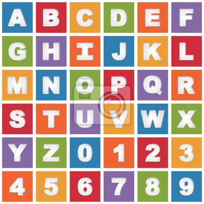 bright alphabet icons