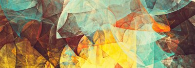 Fototapete Bright future modern background. Abstract painting color texture. Modern futuristic pattern. Fractal artwork for creative graphic design