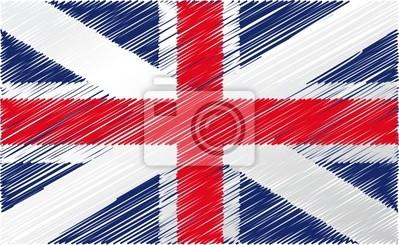 Britische Flagge, Vektor-Illustration
