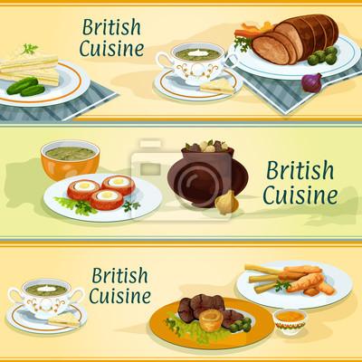 Britische Küche   Britische Kuche Traditionelle Gerichte Fur Menu Design Fototapete