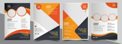 Fototapete Brochure design, cover modern layout, annual report, poster, flyer in A4 with colorful triangles