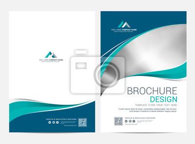 Fototapete Brochure template flyer design vector background