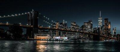 Fototapete Brooklyn Bridge and Jane's Carousel with views of downtown Manhattan