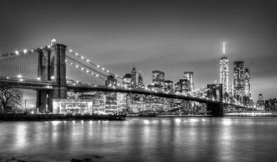 Fototapete Brooklyn-Brücke in der Dämmerung, New York City.