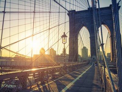 Fototapete Brooklyn-Brücke New York