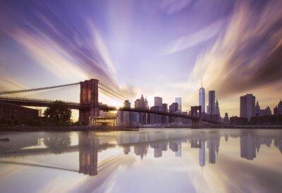 Fototapete Brooklyn-Brücke Sonnenuntergang
