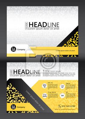 Broschüre Flyer Template Design. Geometrisches Muster. Vektor-Illustration der geometrischen Grafik-Design.