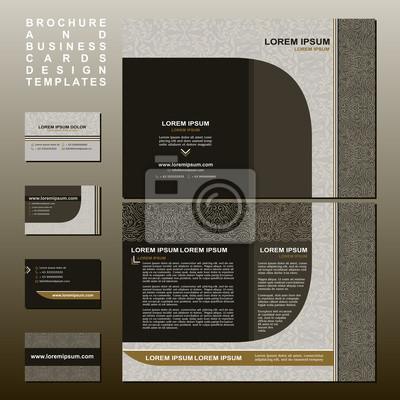 Broschüre Und Visitenkarten Design Vorlagen Sammlung