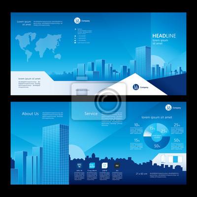 Broschüre Vorlage Design. Firmenprofil. Konzept der Architektur-Design. Abbildung