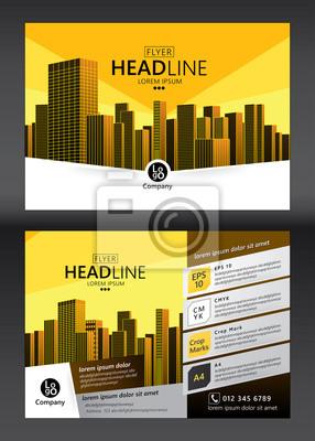 Broschüre Vorlage Design. Konzept der Architektur-Design. Abbildung