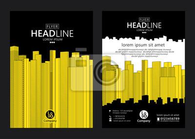Broschüre Vorlage Design. Konzept der Architektur mit Linienartentwurf. Abbildung