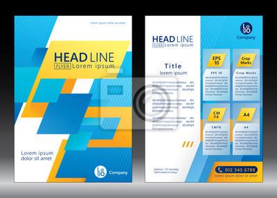 Broschüre Vorlage Design. Linien-Muster. Vektor-Illustration der geometrischen Grafik-Design.