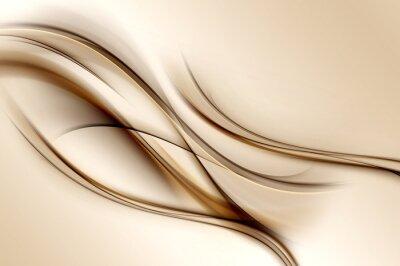 Fototapete Brown Waves Hintergrund