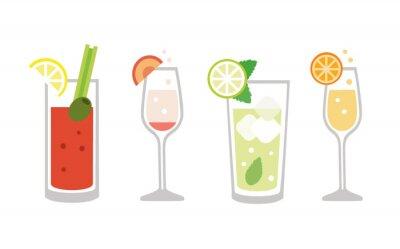 Fototapete Brunch drinks set