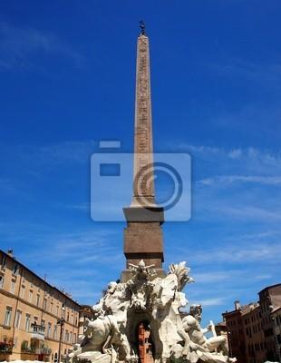 Brunnen der vier Flüsse von Bernini auf der Piazza Navona