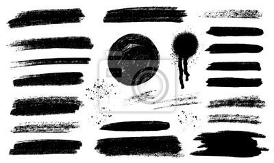 Fototapete Brush strokes templates,  vector grunge paintbrush set