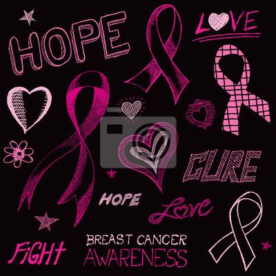 Brustkrebs-Bewusstseins-Skizze