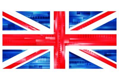 Fototapete Brytyjska flaga wektor