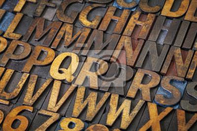 Buch Alphabet abstrakt