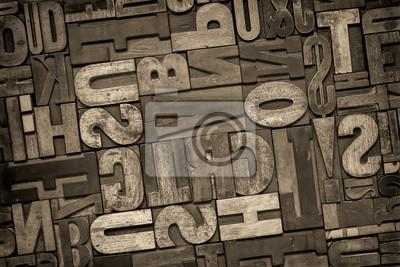 Buchdruck Holzart abstrakt