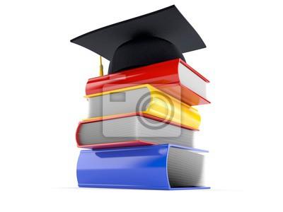 Bücher Mit Abschluss Hut Fototapete Fototapeten Kognition