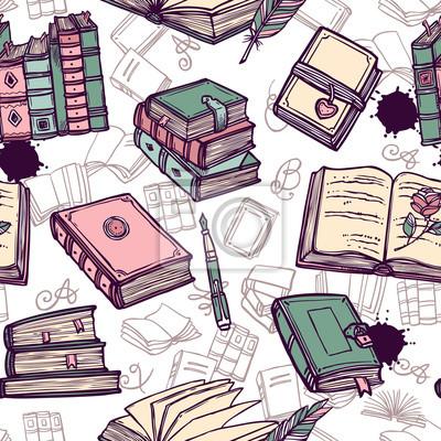 Bücher Seamless Pattern