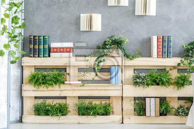 Fototapete Bücherregal Aus Paletten