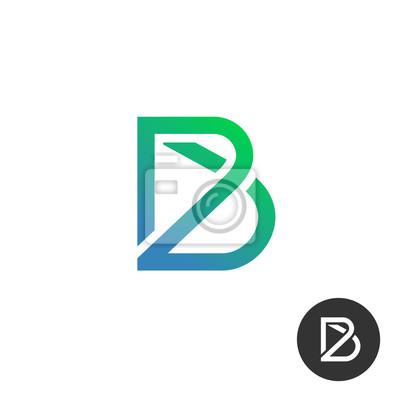Buchstabe b lineare industrie draht puzzle-logo-vorlage. auch ...