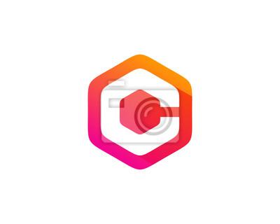 Buchstabe c hexa farbe fototapete • fototapeten Monogramm, App ...