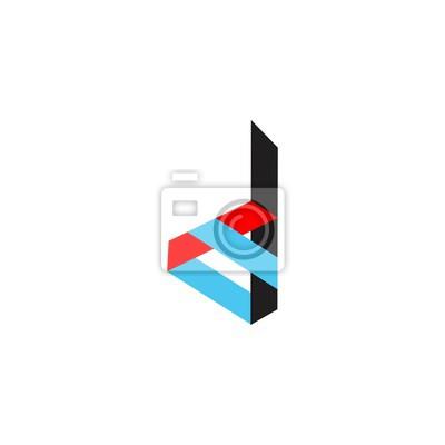 Buchstabe d in farbe logo vektor fototapete • fototapeten Film ...