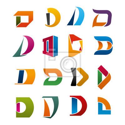 Buchstabe D Vektorsymbol für Corporate Identity