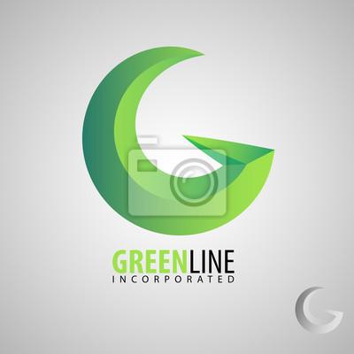 Buchstabe g symbol design-vorlage elemente. vector farbe-zeichen ...