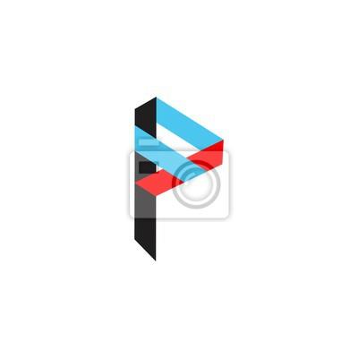 Buchstabe p in farbe logo vektor fototapete • fototapeten Film ...