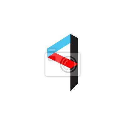 Buchstabe q in farbe logo vektor fototapete • fototapeten Film ...