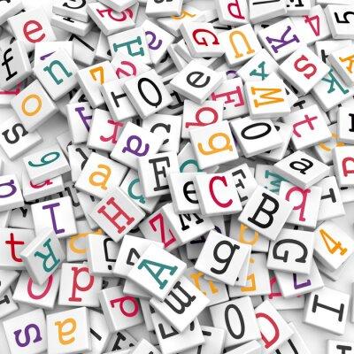 Fototapete Buchstaben - Informationen Konzept
