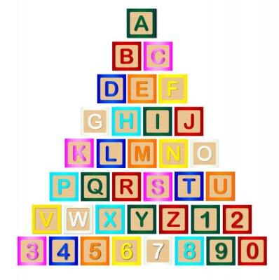 Fototapete Buchstaben-Pyramide