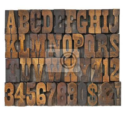 Buchstaben und Zahlen im Weinleseart