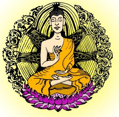 Fototapete Buddha-Farbe.