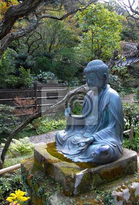 Fototapete Buddha Friedliche Meditation Im Garten