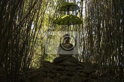 Buddha Im Bambushain Im Landschaftspark Dennenlohe In Bayern