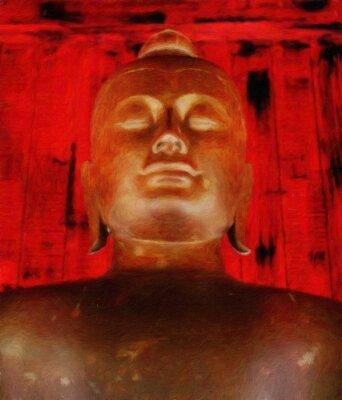 Buddha-Statue / Ölgemälde-Fotoeffekt