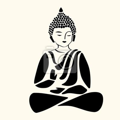 Buddha Symbol Symbol Des Yoga Und Meditation Vector Fototapete