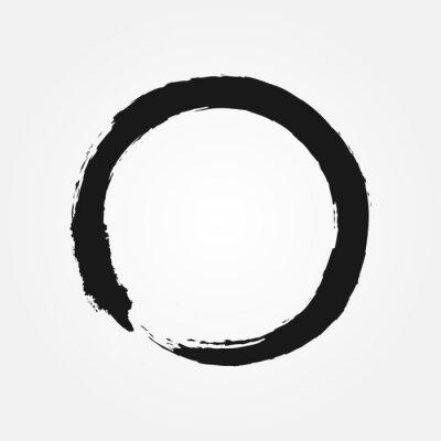 Buddhismus Symbol Mit Einem Pinsel Gezeichnet Rundzeichen Zen