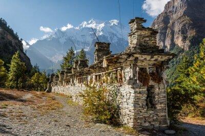 Fototapete Buddhistische Gebetsmühlen - Annapurna Region.