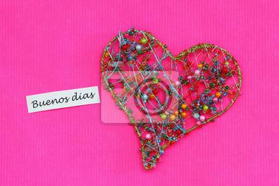 Buenos Dias Guten Morgen In Spanisch Karte Mit Herz Aus