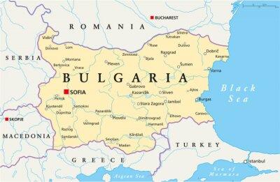 Karte Bulgarien.Fototapete Bulgarien Karte Bulgarien Landkarte