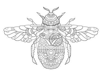 Bumblebee Malbuch für Erwachsene Vektor