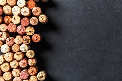 Fototapete Bunch von Weinkorken