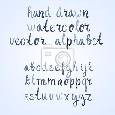 Bunte Aquarell Aquarell handgeschriebenen Schriftart Hand gezeichnet